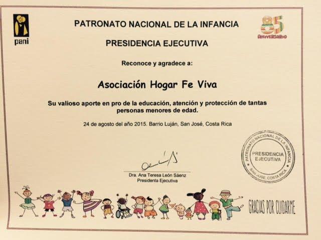 Nuestro principal logro es el privilegio de servir a Dios y a ayudar a proteger los niños en vulnerabilidad social